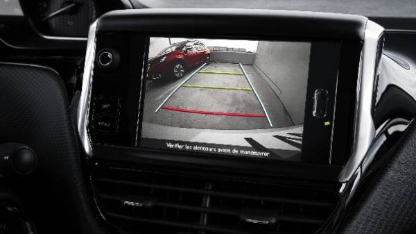 peugeot 2008 reversing camera assisted screen