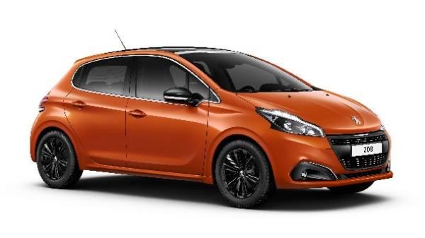 peugeot 208 5 door in orange-min