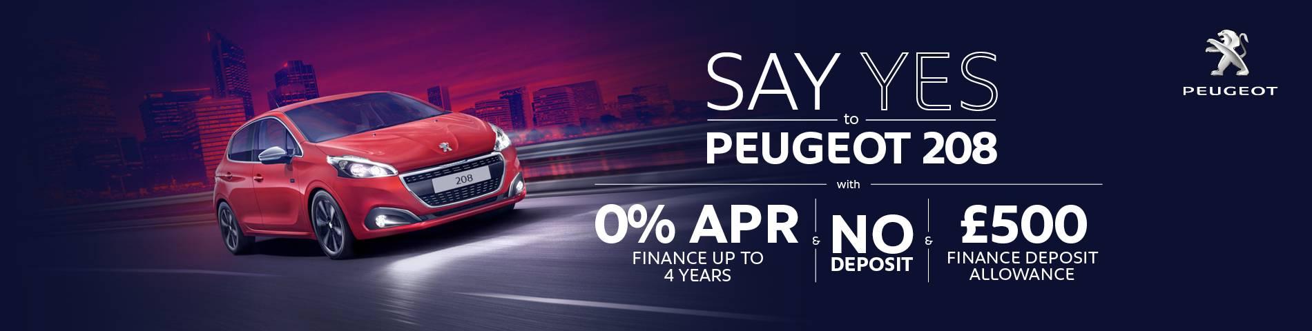 Peugeot 208 0% APR