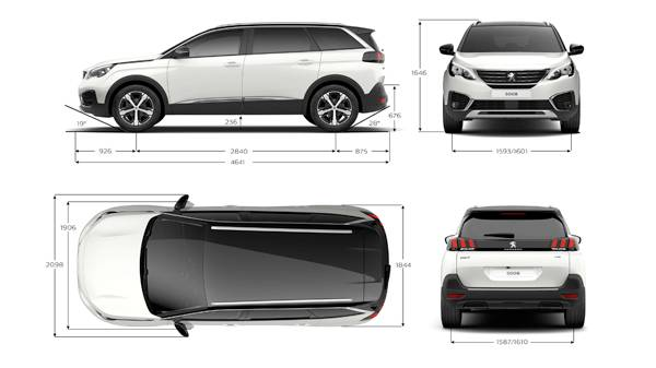 peugeot 5008 suv dimensions