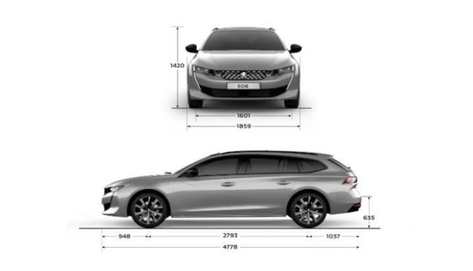 Peugeot 508 SW Dimensions