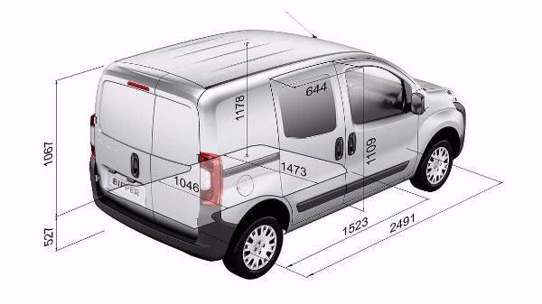Peugeot bipper dimensions
