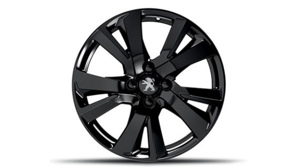 peugeot edrian brilliant black 17 allow wheel