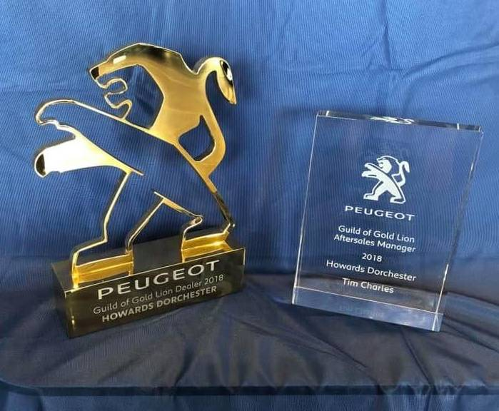 Peugeot Dorchester Awarded Guild of Gold Lion Dealer & Service Manager 2019 Awards