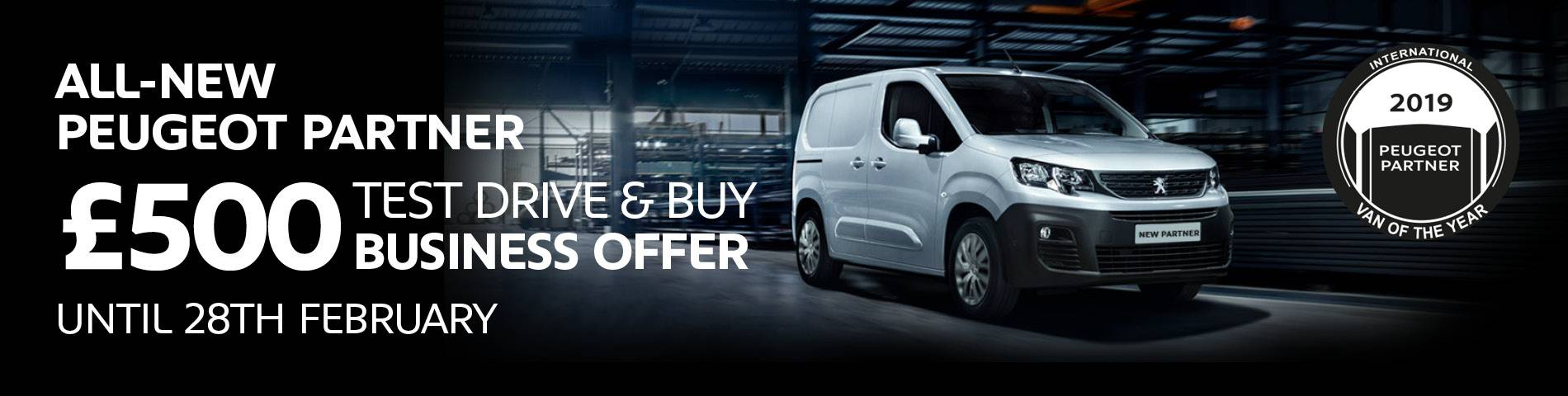 Peugeot Partner Test Drive & Buy