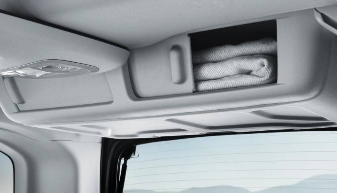 Peugeot Rifter Storage Compartment Roof