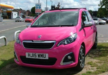 FREE exclusive hot PINK upgrade for the first 10 buyers of the new Peugeot 108!