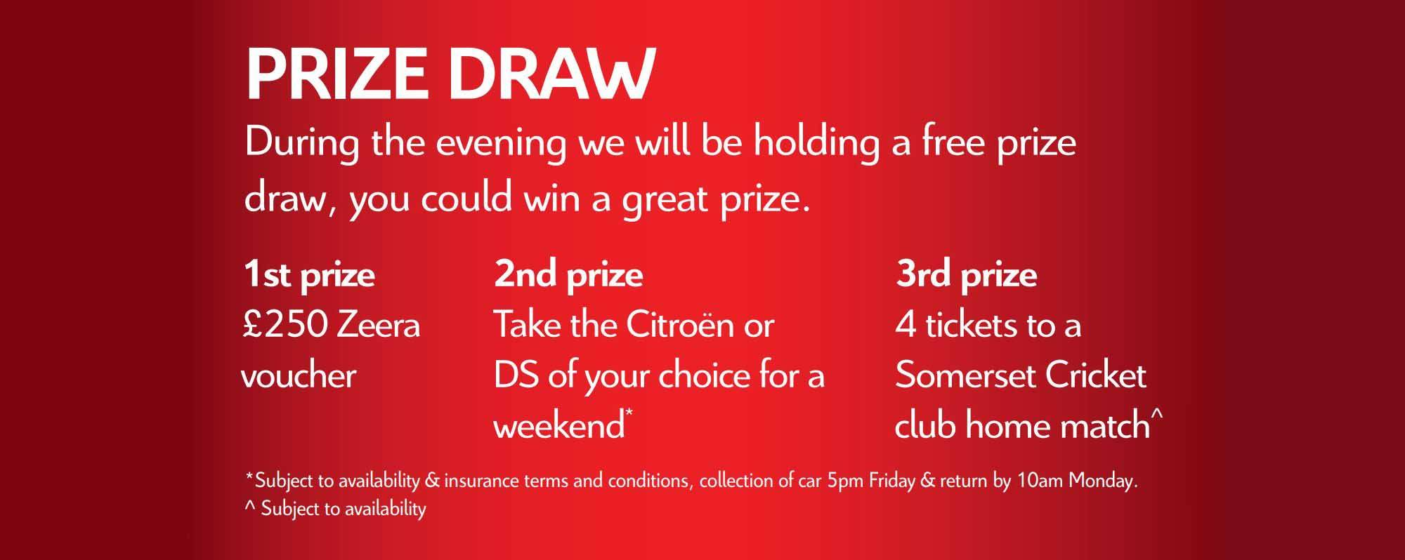 Prize Draw Launch Room