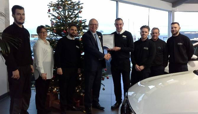 Peugeot Service department Pro2ace award