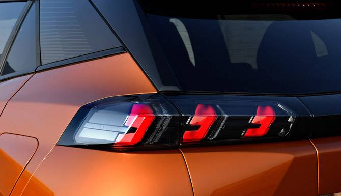 Rear Light Peugeot 2008 SUV Orange