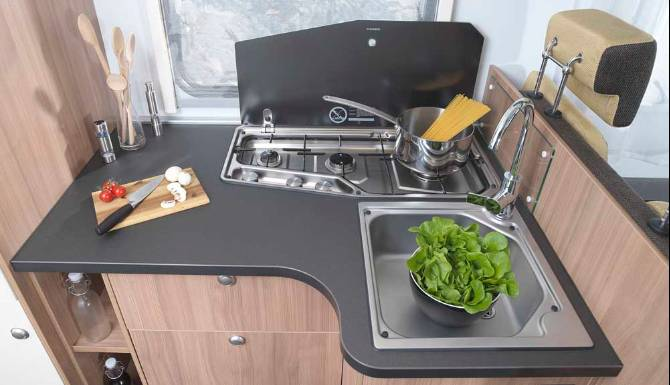 Sun Living A Series Motorhome Interior Kitchen Worktop