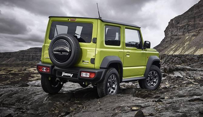 Suzuki Jimny Back Side View On Terrain