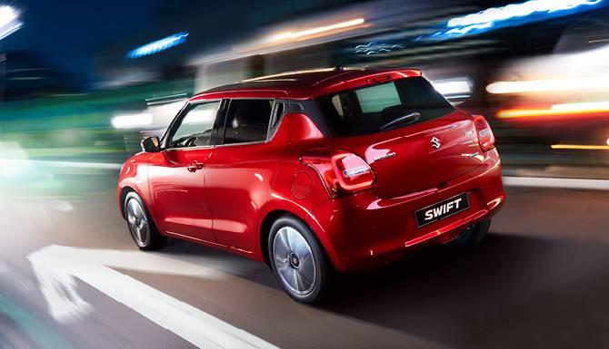 Suzuki Swift Back Side On The Road