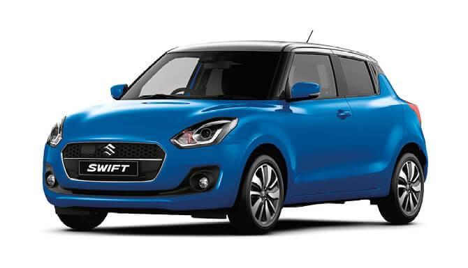 Suzuki Swift SZ5 Blue Color White Background