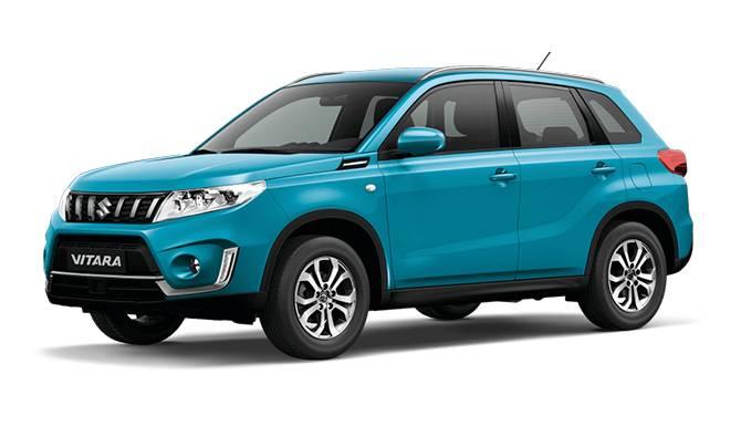 Suzuki Vitara Blue Color White Background