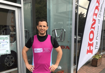 Honda Taunton Employee To Embark On 27 Day Half Marathon Challenge For Charity