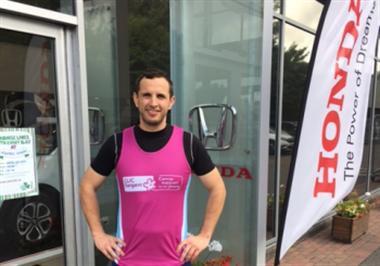 Honda Taunton Employee To Embark On 27 Day Half Marathon Challenge For Charity