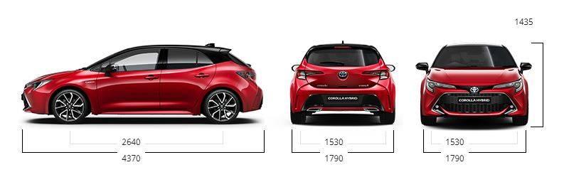 Toyota Corolla Dimensions