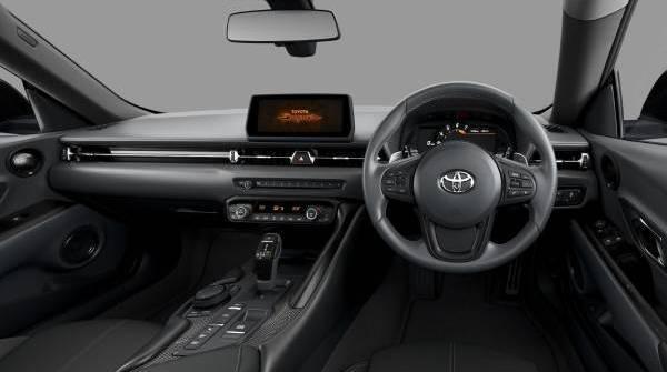 toyota gr supra pro - drivers interior view