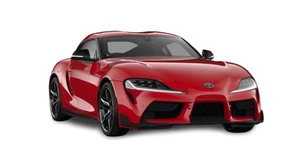toyota gr supra pro - side on view