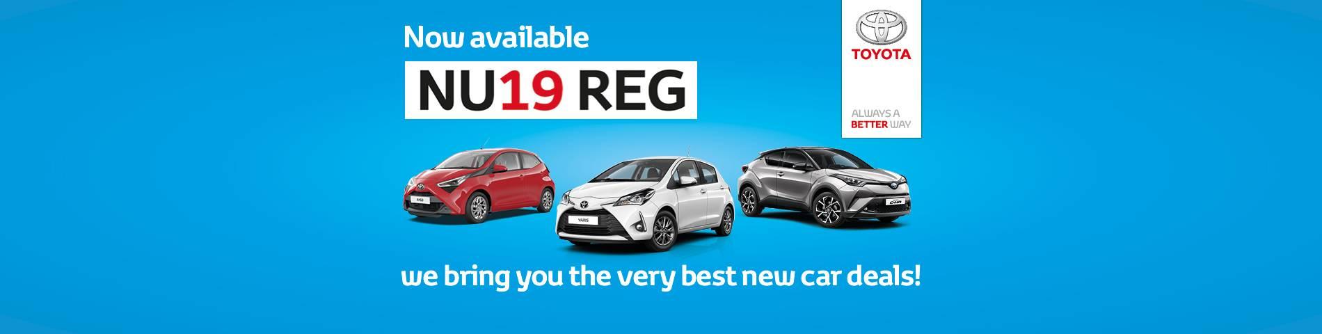 Toyota New 19 Reg