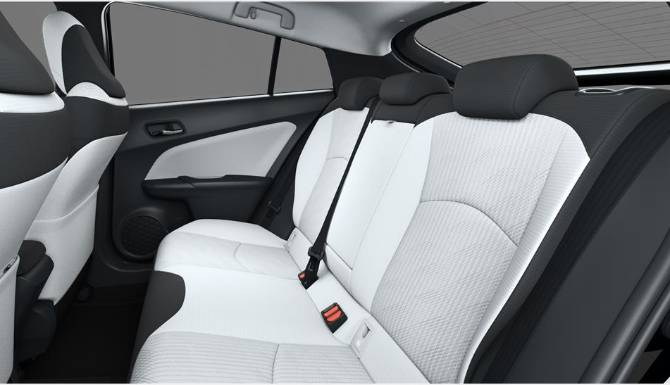 Toyota Prius Cool Grey Back Seats