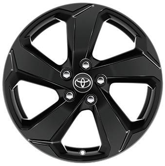 Toyota RAV4 18 Black Painted Alloy Wheels 5-spoke