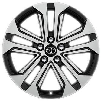 Toyota RAV4 18 Glossy Black Machined Alloys