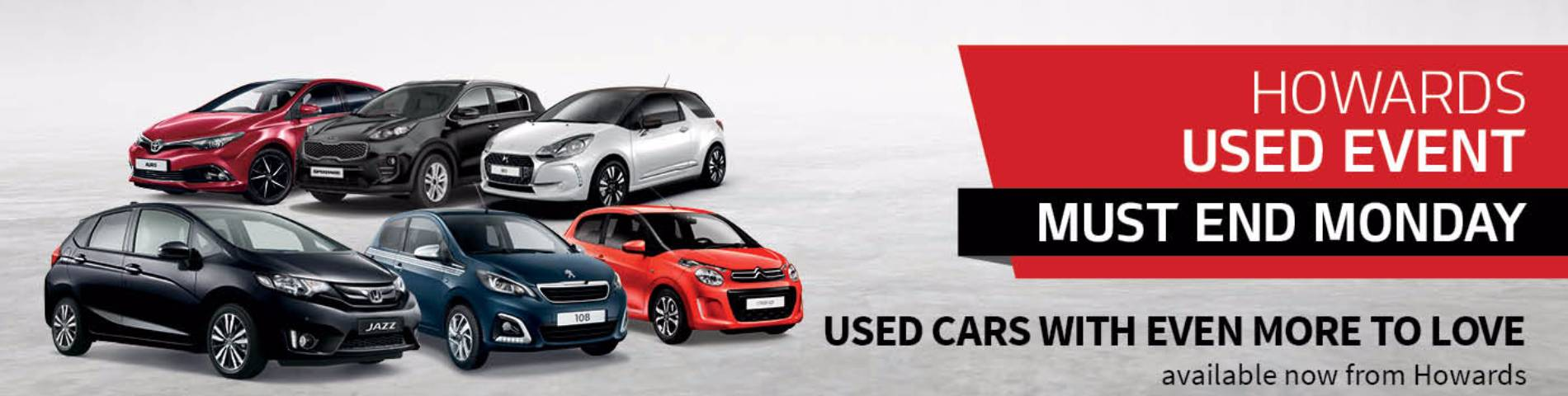 Used Car Banner Landing page