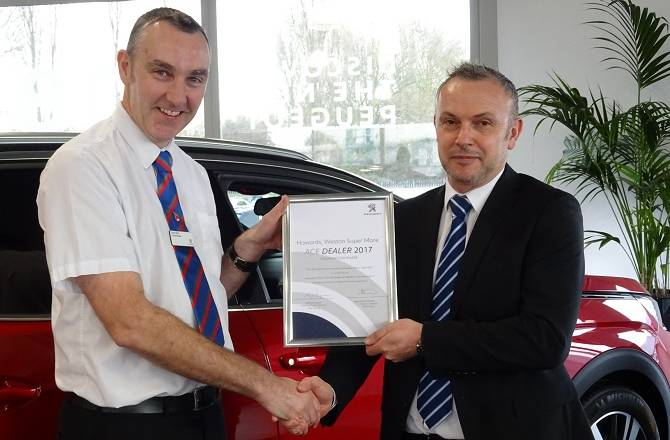 Howards Peugeot passes foundation phase of 'Ace Accreditation'