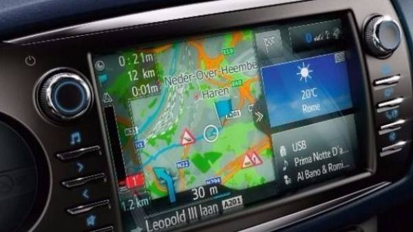 Toyota Yaris Touch Screen Display